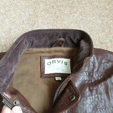 Mens Orvis Leather Waistcoat large