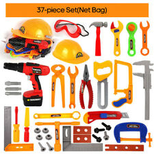 Kids Play Pretend Toy Tool Set Workbench Construction Workshop Toolbox Tools