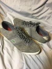 Lacoste Mens Tourelle Grey White Lace-up Casual Fashion Sneakers shoes Sz 13
