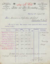 REGENSBURG, Rechnung 1898, Kohlen- und Koks-Grosshandlung Aug. M Wild