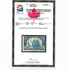 GENUINE CANADA SCOTT #158 USED 1929 DARK BLUE BLUENOSE PSE CERT - ESTATE SALE