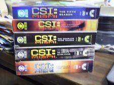 (5) CSI: Miami Season DVD Lot: Seasons 1, 2, 3, 4 & 5      w/Slipcovers