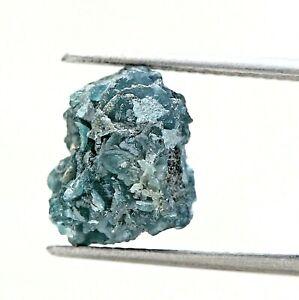 Big Earthmine Raw Diamond 6.78TCW Blue Sparkling Natural Polygon Shape for Gift