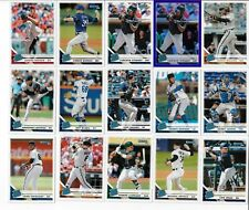 2019 DONRUSS BASEBALL LOT OF 15 RATED ROOKIE CARDS INCL 1 PURPLE HOLO PARALLEL