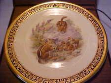 Lenox Woodland Wildlife Eastern Chipmunks Plate 1976 by Boehm Ltd Ed Usa w/boxes
