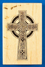 PSX F-2370 Celtic Cross Rubber Stamp - Christian Religious Irish Celtic Knots