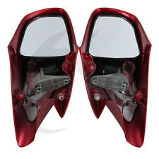 Red Rear View Mirrors Orange Turn Signals For Honda ST1300 02-11 ABS Plastic