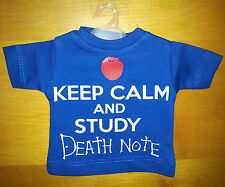 Mini T-Shirt Maglietta da Appendere - Keep Calm and Study Death  Note - Blu