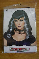 New Adult Wig Modern Vamp Black & White Witch Wig Carnival Halloween Party Sexy