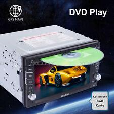 AUTORADIO MIT GPS NAVIGATION NAVI BLUETOOTH TOUCHSCREEN DVD CD USB DOPPEL 2 DIN