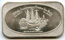 Boston Tea Party .999 Silver Art Medal - 200th Anniversary ingot 1 oz Troy AB423