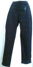 Straight Leg Cotton Blend High Rise 30L Trousers for Women