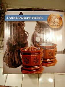 Chalice Elevated Pet Bowl for Cats & Small Dogs- Set