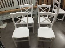 X1 ALL PAINTED CROSS-BACK CHAIR CHOICE OF COLOURS FARROW & BALL ALL WHITE
