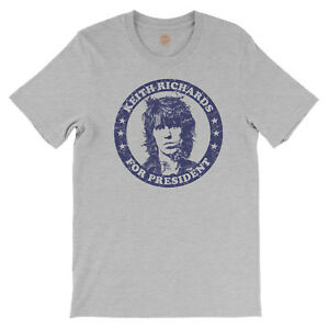 Keith Richards for President T-Shirt - vintage style Rolling Stones concert tee