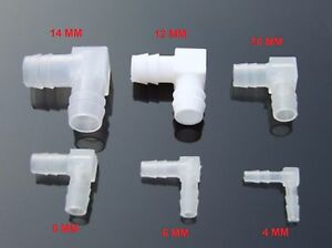 L Equal Ends Water Pipe Elbow Joint K611 Hose To Hose Hard Plastic Aquarium etc