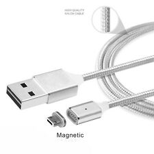 2.4A Magnetic Micro USB Fast Data Charger Cable For Samsung Galaxy S6 S7 Edge