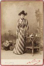Mathilde Auguez, Soprano française, Opéra-Comique, Photo Cabinet card, Nadar