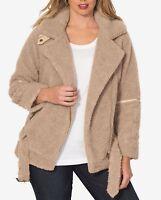 Women's Plus Size Moto Fleece Coats Plus Size 20 22 24 Retail $149.99