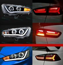 for MITSUBISHI LANCER EVO X 2008-2017 LED Headlights &Tail Lights Set Projector
