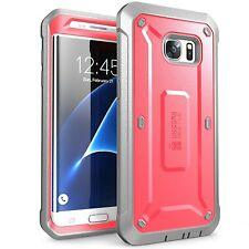 New Galaxy S7 Edge Case SUPCASE Rugged Holster Unicorn Beetle PRO Pink Cover