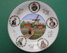 Holland,Souvenir,Tracht,Tulpen,Windmühle,Teller,Porzellan,Handdekor,1910,TOP++++