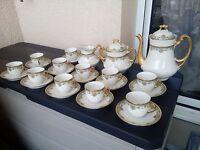 Ancien service a cafe porcelaine de limoges signé leon sazerat