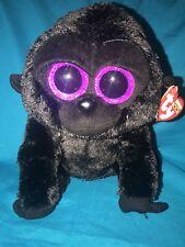 Ty Beanie Boos Medium George The Gorilla With Purple Eyes