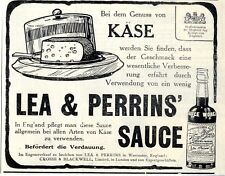 Lea & Perrins 'salsa Worcester Inghilterra ad 1910