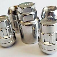 4 x M12 x 1.5 Locking Wheel Nuts Tapered Seat Silver Inc Key FORD FOCUS FIESTA