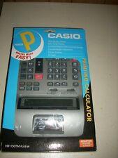 "Casio HR-150TM PLUS-W Printing Calculator Adapter Included 2 1/4"" 12 Paperrolls"