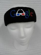 Gently Worn GOOGLE 3D Glasses Head Band Black OSFM Embroidered workout