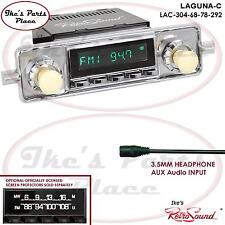 RetroSound LAGUNA-C Radio/3.5mm AUX-In for ipod/Push Button-304-68 VW Bug/Beetle