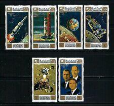 Manama 1971 Mi#578-83A  Apollo 15(I)-Rocket Launch/Astronauts  MNH Set $5.10