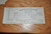 1907 Seaboard Air Line Railway Portsmouth VA Bank Check to DL&W RR Railroad NR!!