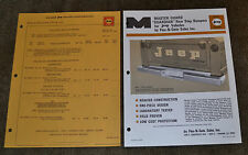 1967 Advertising Special Equipment Price List Jeep Flex-N-Gate Rear Step Bumpers