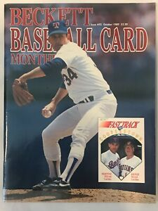 Beckett Baseball Card Monthly Issue # 55 Nolan Ryan Cover October 1989