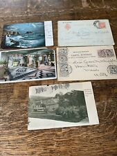 5 Postcards From Olive W. Peabody Dated 1900's