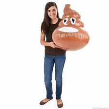 "24"" Inflatable Emoji Fake Poop Poo Blow Up Party Toy Pool Inflate Float Joke Gag"