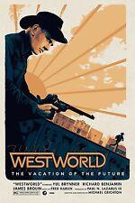 Westworld Rare Alternative Movie Poster by Matt Ferguson No. /50 NT Mondo