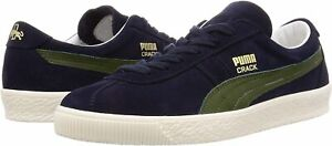 Puma Crack Heritage Peacoat / Garden Green Suede Retro Fashion Trainer UK 6 - 11