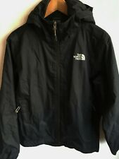 THE NORTH FACE MENS S SMALL 38-40 BLACK HOODED ANORAK JACKET COAT