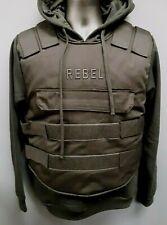 Men's Rebel Minds Bullet Proof Vest-Styled Hoodie - Black