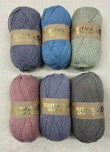 Jarol Heritage MIST DK yarn 100g (300 mtrs) - Choice of 6 Colours