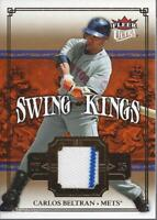 2007 Ultra Swing Kings Materials #CB Carlos Beltran Jersey - NM-MT