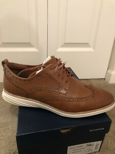 Cole Haan Men's Grand Evolution Wingtip Oxford - British Tan/Ivory - Size 13