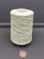 200G 1/15NM JASPE TUSSAH SILK YARN MINT GREEN / WHITE 53878