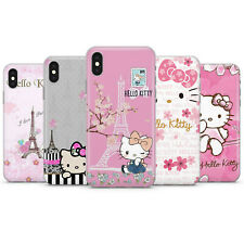 HELLO KITTY PARIS CUTE KITTY PINK LOVE PHONE CASE COVER FOR IPHONE 5 6 7 8 X 11