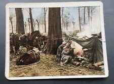 WWI German Cigarette Card Der Weltkrieg Regie Sport #30 Germans in Poland 1914