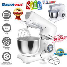 Electric Classic Stand Food Mixer 4L Bowl Dough Hook Kitchen Aid Kit Baking Cake